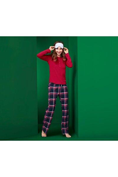 Kırmızı Flanel Pijama 109363