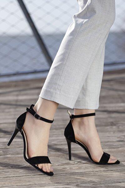 Kadın Siyah Günlük Klasik Topuklu Ayakkabı