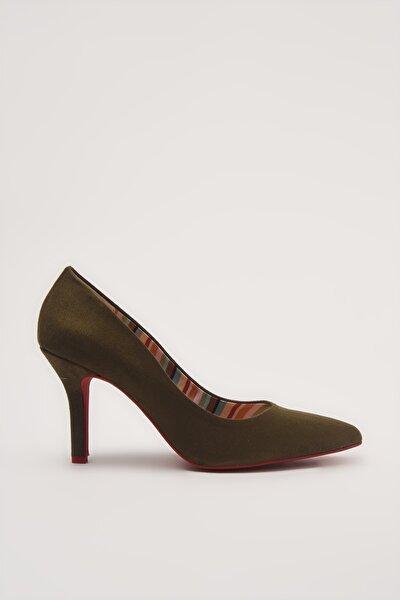 Haki  Klasik Topuklu Ayakkabı 01AYH213540A880