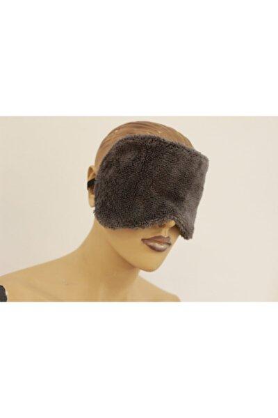 Antrasit Havlu Yoga Göz Bandı Pamuk Polyester Göz Dinlendirici Uyku Bandı Uyku Stres Maskesi