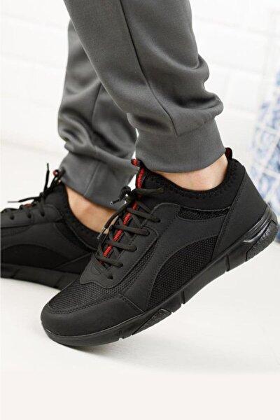Erkek Siyah Esnek ve Hafif Spor Ayakkabı Rc-04