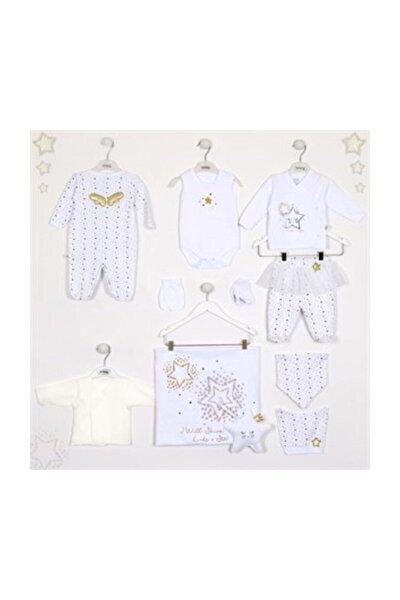 Lıttle Stars Tulumlu  10 Lu Kız Set Beyaz