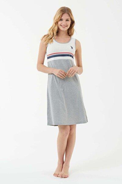 Kadın Gri Melanj Elbise