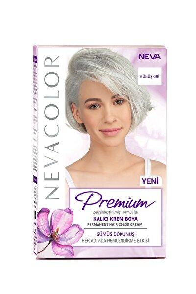 Nevacolor Premium Kalıcı Krem Set Boya Gümüş Gri