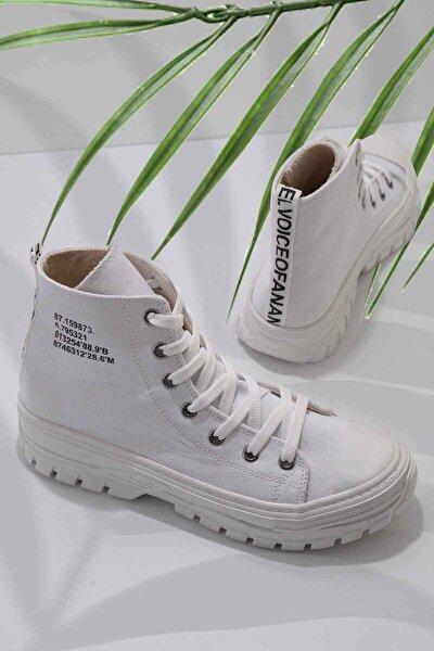 Beyaz Kadın Sneaker K01530110818