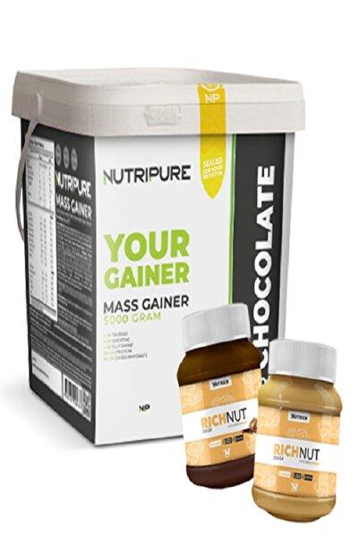 Mass Gainer 5000 gram Karbonhidrat Tozu - 2 Adet Nutrich Peanut Hediyelidir. 2022-9