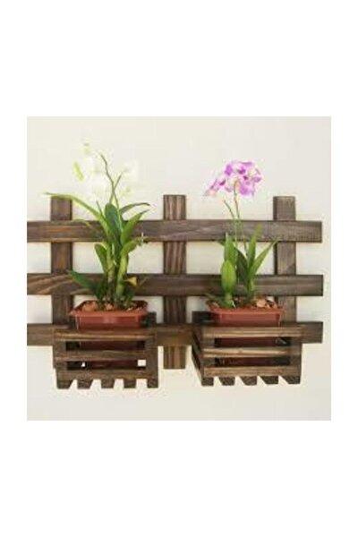 Çok Amaçlı Dekoratif Ahşap Raflı Çiçek Saksı Rafı Standı Model10