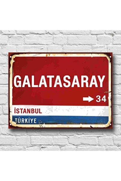 Galatasaray Yön Tabelası Retro Tablo