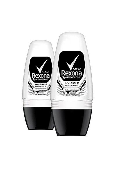 Erkek Deodorant Roll On Invisible Black White 50 Ml X2