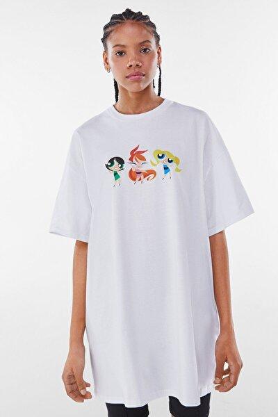 Kadın Kirli Beyaz Powerpuff Girls Elbise 00484167