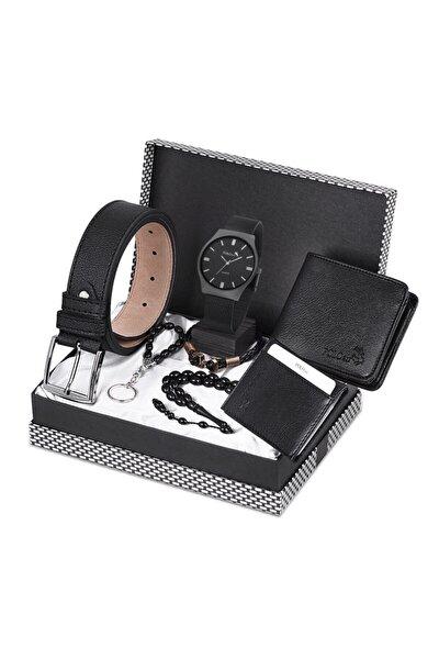 Erkek Set Kol Saati +Kemer+ Cüzdan +Kartlık +Tesbih +Anahtarlık Seti