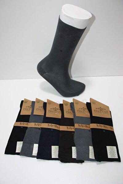 Erkek 6 Çift Bambu Dikişsiz Uzun Kokulu Çorap