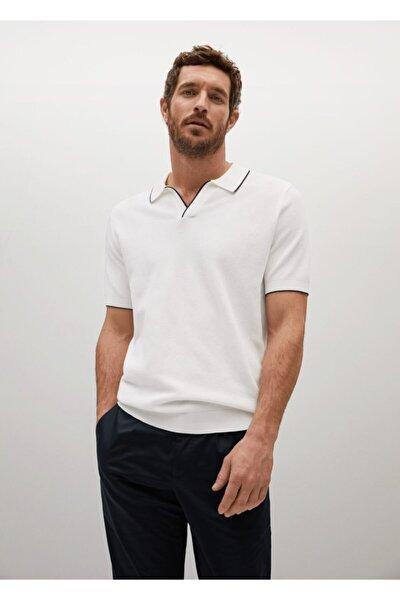 Kontrast Biyeli Dokuma Polo Gömlek