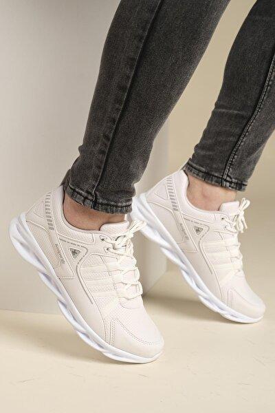 Erkek Beyaz Air Tabanlı Sneaker