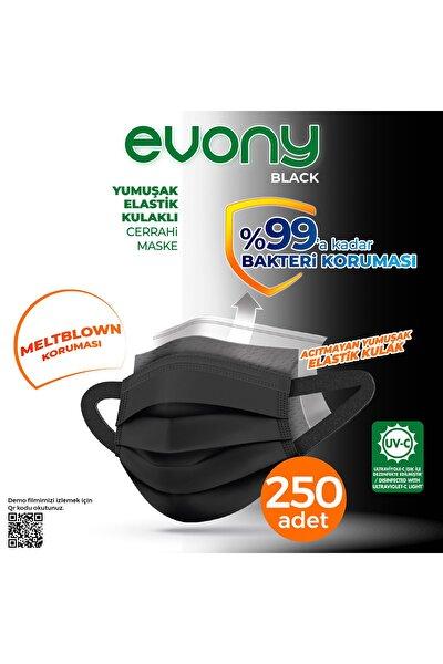 Siyah Elastik Kulaklı Maske 250 Adet