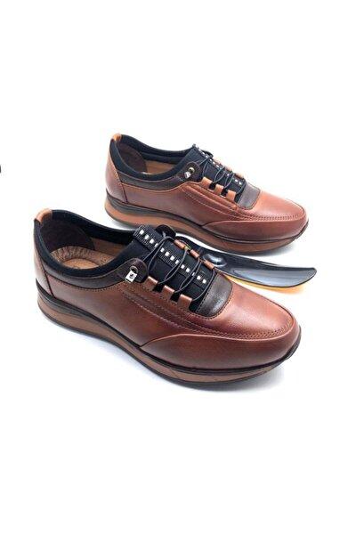 Erkek Kahverengi Hakiki Deri Tam Ortopedik Ayakkabı
