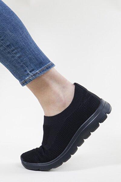 Kadın Siyah Triko Sneaker