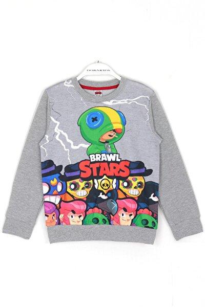 Erkek Çocuk Brawl Stars Leon Karakteri Dijital Baskı Oyun Sweatshirt
