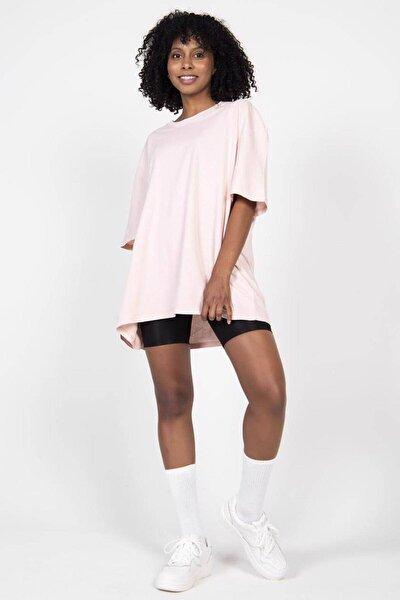 Kadın Pudra Basic T-Shirt P9439 - F3 Adx-0000022241