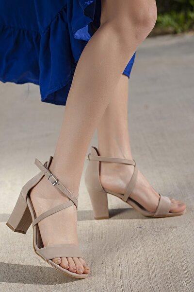 Kadın Ayakkabı D01450 Günlük Klasik Topuklu