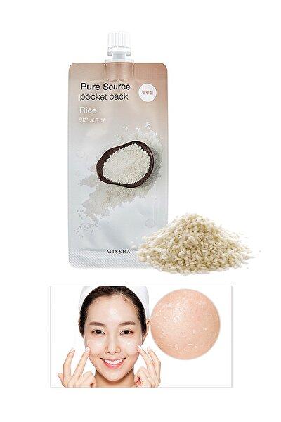 Ölü Deri Arındırıcı Aydınlatıcı Pürüzsüz Görünüm Sunan Pirinç Peelingi-Pure Source Pocket Pack Rice