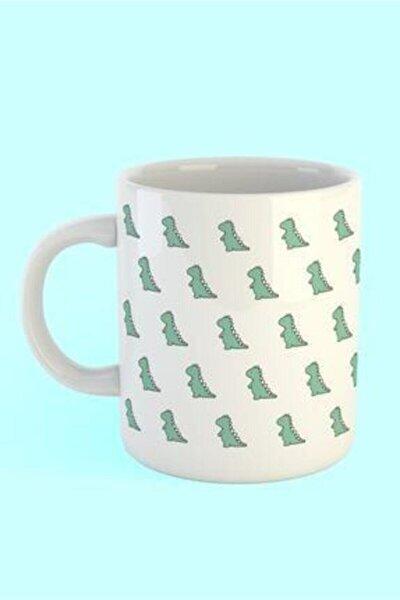 Dinozor Desen Baskılı Kahve Kupası
