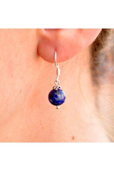 Lapis Lazuli Taşı Gümüş Küpe