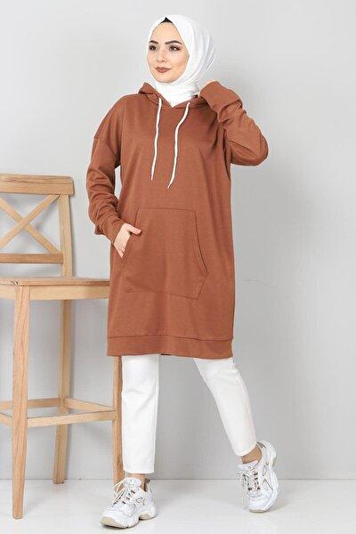 Kapşonlu Kanguru Cep Sweatshirt Tsd10590