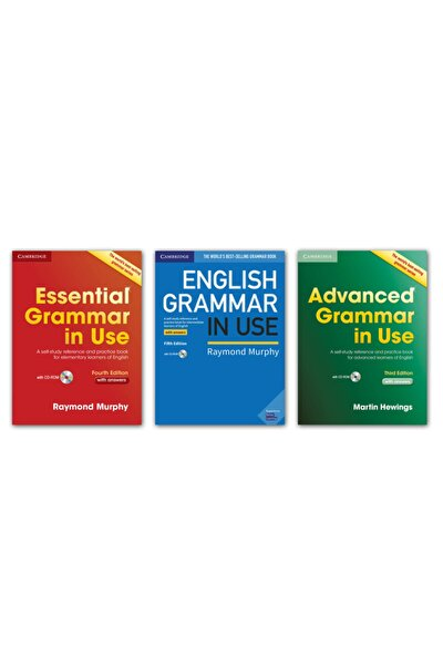 Essential Grammar In Use + English Grammar In Use + Advanced Grammar In Use + With Answers + Cd