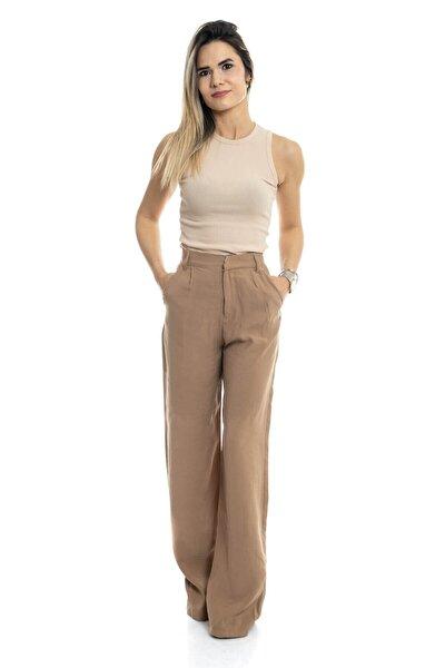Kadın Pantolon  Bol Paça