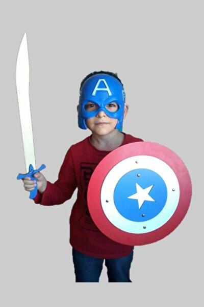 3'lü Oyuncak Seti, Kaptan Amerika Maskesi, Kalkanı Ve Kılıcı