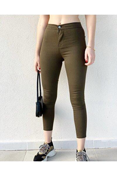 Skinny Haki Yeşili Jean