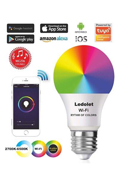 Akıllı Smart Wıfı Ritim Müzik Uyumlu Renk Değiştiren 9w Led Ampul