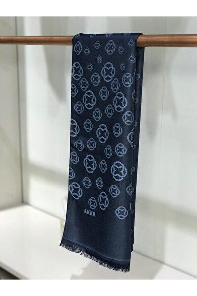 Jakarlı Lacivert-mavi Şal