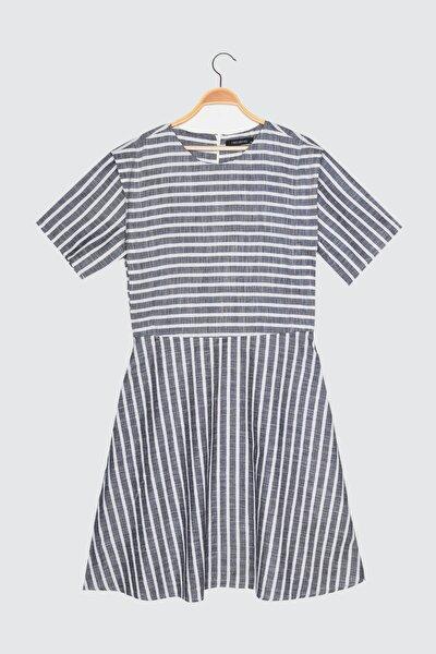 Siyah Çizgili Elbise TWOSS21EL0410