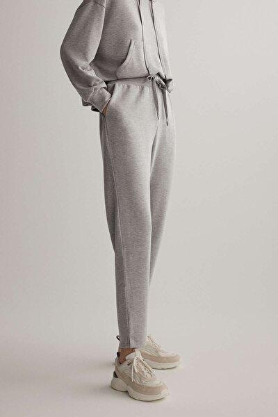 Kadın Gri Yumuşak Dokulu Modal Pantolon
