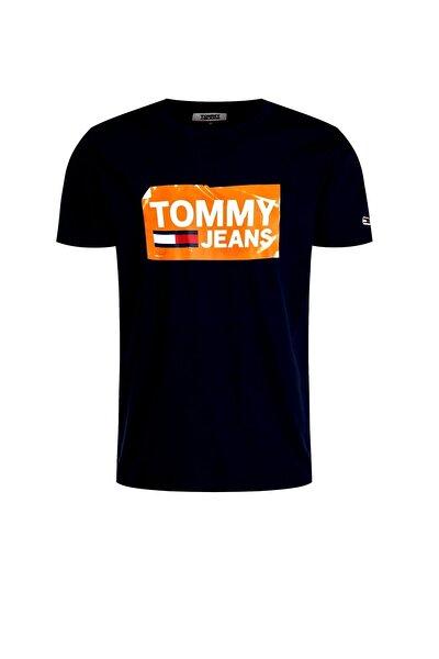Erkek Siyah Tommy Jeans T-shirt Dm0dm06502
