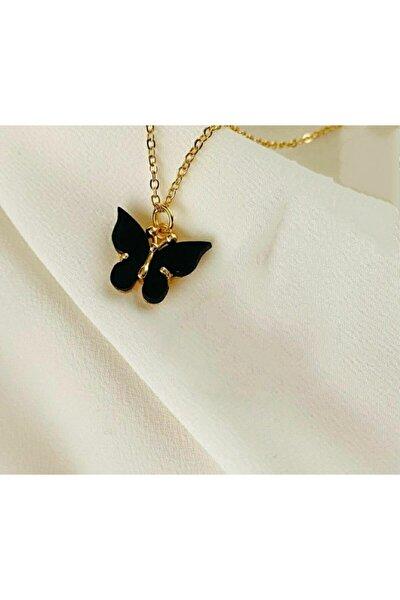 Siyah Kelebek Kolye