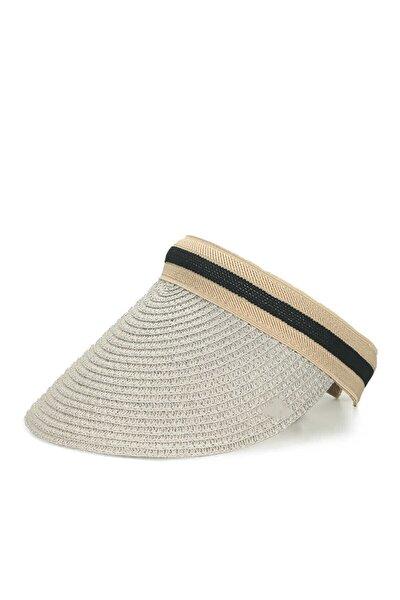 Ayarlanabilir Siperlikli Hasır Vizör  Kadın Şapka Plaj Şapkası