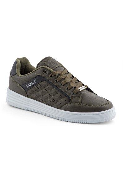 06 Haki Beyaz Erkek Spor Ayakkabı