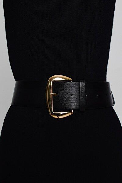 Gold Tokalı Siyah Kemer