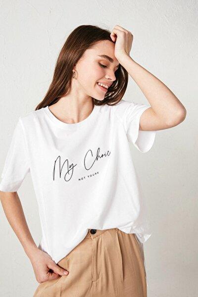 Kadın Optik Beyaz Tişört