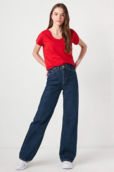 Kadın Koyu Rodeo Jean