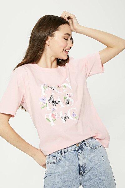 Kadın Pembe Tişört