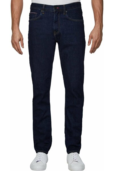 TH Erkek Slim Bleecker Pstr Pax Blue Denim Pantolon MW0MW126961BL