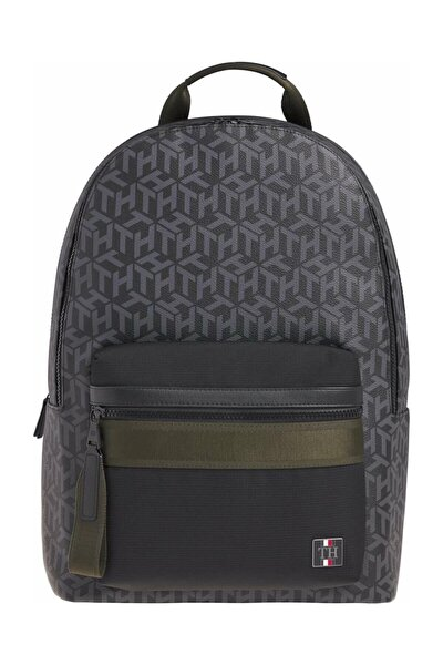 Erkek Siyah Sırt Çantası Coated Canvas Backpack AM0AM06466