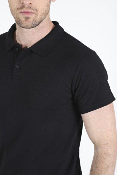 Erkek Siyah Polo Yaka Tshirt