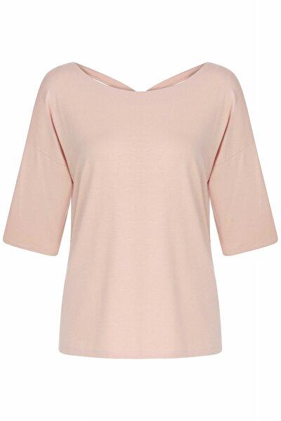 Kadın Pembe Basic Bluz