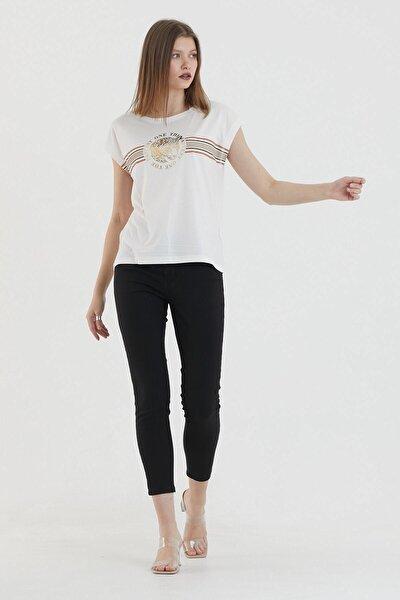 Kadın Fildişi T-Shirt