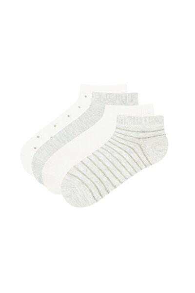 Kız Çocuk Shımmer Patik Çorap 4lü
